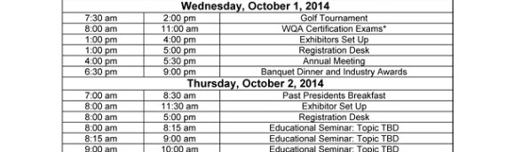 PWQA Convention & Trade Show – Sep 30 ~ Oct 3