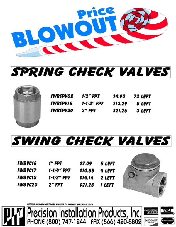 Blowout-Spring-Swing-Check-Valves