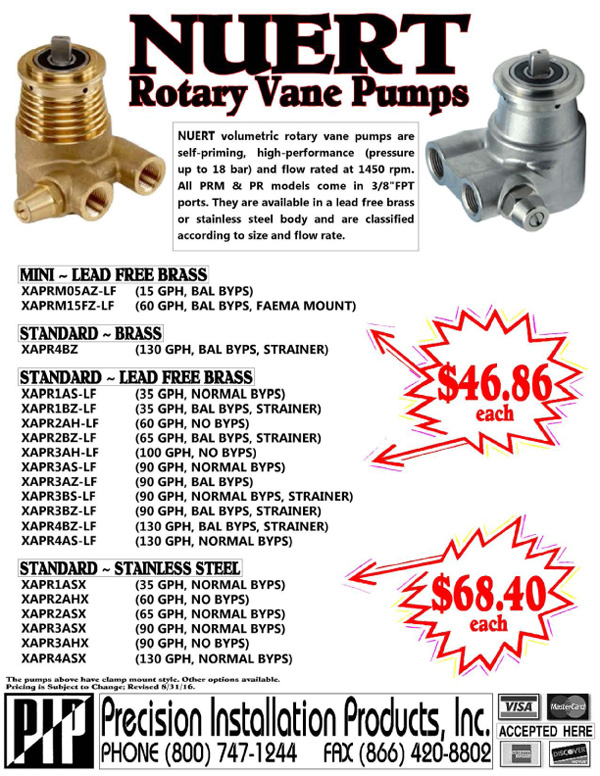 NUERT-Rotary-Vane-MINI-Standard-Pumps
